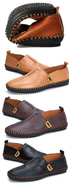 US$45.53 + Free shipping. Casual Shoes, Casual Shoes for Men, Soft Shoes, Flat Shoes, Oxfords Shoes, Shoes to Wear with Jeans, shoes with shorts.Season: Spring, Summer, Round Toe, Slip on, Color: Black, Brown, Dark Brown. Upper Material: Cow Split Leather. Outsole Material: Rubber. #ShoesForMen