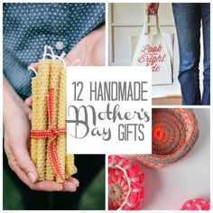 12 Handmade Mother's Day Gifts. It's no secret that mamas like their gifts homemade. This Mother's Day give your mom (or sisters or friends) these thoughtful DIY presents that they're sure to adore!