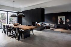 home design styles Gray Interior, Living Room Interior, Home Living Room, Modern Interior, Home Room Design, Home Interior Design, Living Room Designs, House Design, Casa Loft