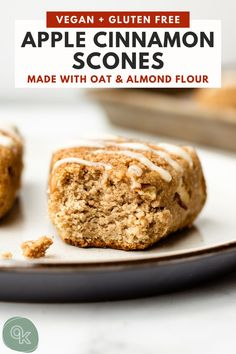 Easy vegan apple cinnamon scones made with oat flour, almond flour and fresh apples! The perfect breakfast treat to bake up for apple season. #veganapplescones #fallbaking #baking #heathyapple #quickbreak #veganrecipes #applescones #applerecipes #veganscones #glutenfreescones Gluten Free Treats, Vegan Treats, Gluten Free Baking, Vegan Baking, Healthy Baking, Vegan Gluten Free, Apple Scones, Apple Cinnamon Scones Recipe, Fall Breakfast
