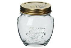 Δοχείο κουζίνας αεροστεγές με βιδωτό καπάκι 0.5 λτ. Mason Jars, Kitchen, Cooking, Kitchens, Mason Jar, Cuisine, Cucina, Glass Jars, Jars