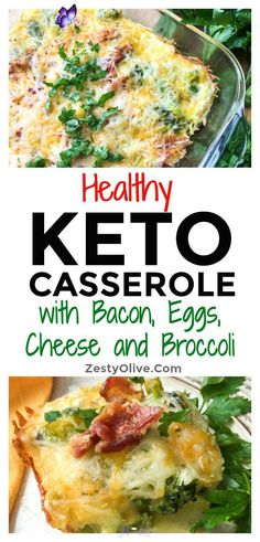 Keto Breakfast Casserole With Eggs, Bacon, Broccoli And Cheese * Zesty Olive - Simple, Tasty, and Healthy Recipes Keto Breakfast Casserole With Eggs, Bacon, Broccoli And Cheese * Zesty Olive - Simple, Tasty, and Healthy Recipes<br> Healthy Breakfast Casserole, Bacon Breakfast, Egg Recipes For Breakfast, Healthy Breakfast Recipes, Diet Breakfast, Breakfast Ideas, Egg And Cheese Casserole, Bacon Egg And Cheese, Broccoli And Cheese