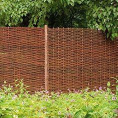 MGP Woven Hurdle Panel Fencing | Wayfair Cheap Fence Panels, Decorative Fence Panels, Garden Fence Panels, Lattice Fence, Front Yard Fence, Cheap Garden Fencing, Cheap Privacy Fence, Trellis Fence, Garden Fences
