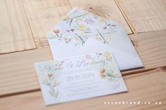 watercolour fynbos invite - Susan Brand Design