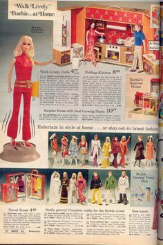 Barbie dolls and accessories from the 1964 Sears Christmas catalog. Description from pinterest.com. I searched for this on bing.com/images