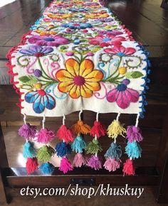 Boho table runnerperu tapestryPeru table runnertable