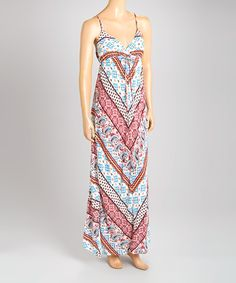 Another great find on #zulily! Bailey Blue Ivory & Wine Paisley Maxi Dress by Bailey Blue #zulilyfinds