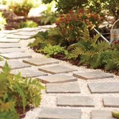 A paver path visually frames the garden and directs the flow of traffic. Follow our video instructions, grab your garden gloves and tools, and in less than a day, you will have a new paver path.