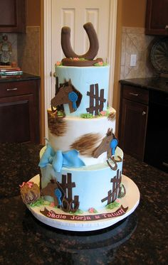 Horses Cake for Three Sisters by cakesbyashley, via Flickr