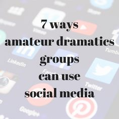 Hints on how amateur dramatics groups can use social media to promote their shows, stay in touch, find new members and lots more too. Have a look. #amdram #amateurdramatics