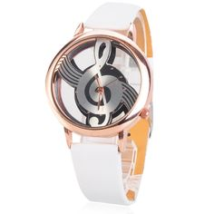 -Usually Ships in 1-2 business days Ships From:(Hong Kong)Warehouse -Worldwide Free Shipping  Shipping & Delivery -Worldwide Free Shipping>>(Hong Kong) Air Mail>>Delivery Time 7-15(business days)  This product is quartz movement watch with special musical note for dial. It adopts pu leathe...