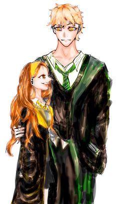 Art By Me (김도연) Mabill Hogwarts Au  Mabel Hufflepuff, Bill Slytherin!