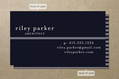 Striped Divide Business Cards by Vellum and Vogue at minted.com