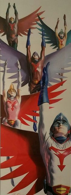 Alex Ross - Gatchaman vol 3 DVD Box Art (Battle of the Planets) Comic Art