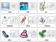 Tecken som stöd vinter Learn Swedish, Swedish Language, Autism Spectrum Disorder, Sign Language, Special Education, Kindergarten, Homeschool, Gallery Wall, Teaching