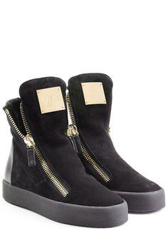 #Giuseppe #Zanotti #High, #Top, #Sneakers aus #Veloursleder #, #Schwarz für…