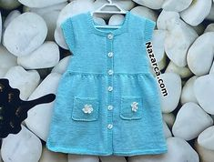 Crochet Videos, Baby Knitting Patterns, Crochet For Kids, Baby Kids, Kids Outfits, Rompers, Shirt Dress, Shirts, Clothes