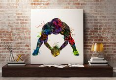 American football player watercolor art by Antsartworkoffice
