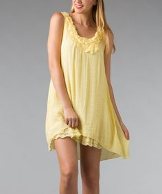 Look at this Lemon Embellished Hi-Low Tunic - Women on #zulily today!