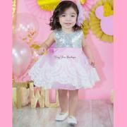 Fancy Dress – Tiny Toes Boutique LLC Birthday Dress Women, First Birthday Dresses, Birthday Outfits, Pink Sequin Dress, Silver Dress, Pageant Dresses, Girls Dresses, Candy Dress, Jasmine Dress