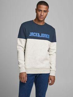 Sudaderas Hombre   Blancas, Negras y Más   JACK & JONES M Jack, Jack Jones, Graphic Sweatshirt, T Shirt, Sweatshirts, Long Sleeve, Sleeves, Sweaters, Mens Tops