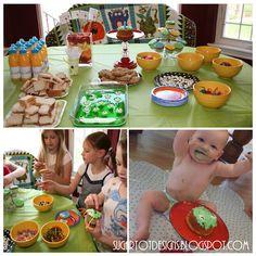 Eyeball jello and make-a-monster cupcake decorating!