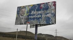 """Sheep graze next to an old election sign on a road from Simferopol to Sevastopol reads """"Yanukovych is the hope of Crimea"""" Election Signs, Sheep, History, Russia, Historia"""