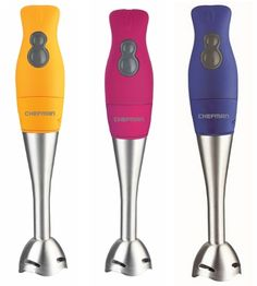 Chefman Rubberized Hand-Held Blenders - 3 Colors Available - Save 65% only $22.00