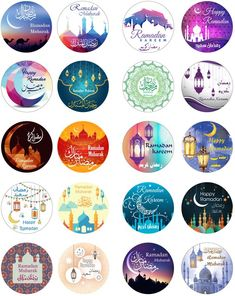 Eid Mubarak Stickers, Eid Stickers, Printable Stickers, Bon Ramadan, Ramadan Sweets, Photo Ramadan, Ramadan Gif, Eid Crafts, Ramadan Crafts
