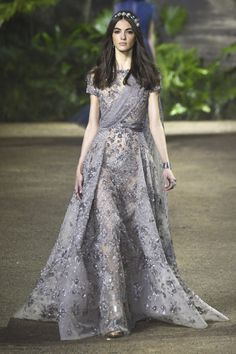"runway-report: "" Camille Hurel at Elie Saab Couture Spring 2016 """