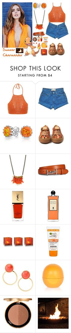 """""""432->Summer Charmander"""" by dimibra ❤ liked on Polyvore featuring Spiritual Hippie, Levi's, Bling Jewelry, Radà, Tod's, Yves Saint Laurent, Serge Lutens, Cultural Intrigue, Kate Spade and River Island"""