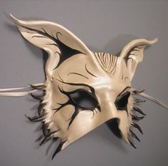 hand made wearable mask 89.00 leather