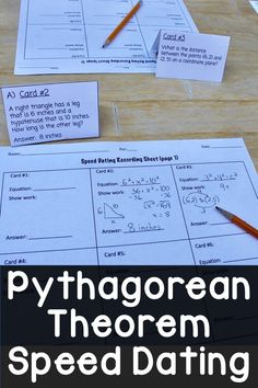 Fun middle school math game where students work with different partners to solve pythagorean theorem problems! Includes missing side lengths of right triangles, distances between points, and shapes. Pythagorean Theorem Problems, Math Classroom, Classroom Resources, Teaching Resources, Teaching Ideas, Middle School Teachers, High School, Act Math, Math Activities