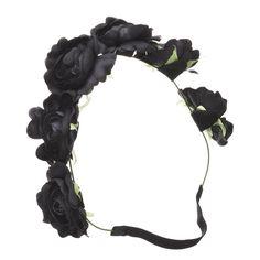 DIVA Winter Rose Bloom Crown Headband Rose Crown, Flower Crown Headband, Head Wrap Headband, Flower Crowns, Winter Rose, Rose Hair, Flower Garlands, Floral Crown, Headband Hairstyles
