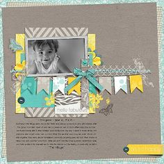 teal and yellow page