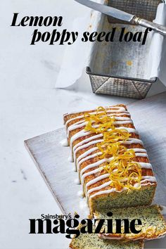 This please-all bake is elevated by its pretty candied peel topping – perfect for your next coffee morning. Get the Sainsbury's magazine recipe Loaf Recipes, Dinner Recipes, Sweet Loaf Recipe, Lemon Poppy Seed Loaf, Fun Desserts, Dessert Recipes, Magazine Recipe, Cupcake Cakes, Cupcakes