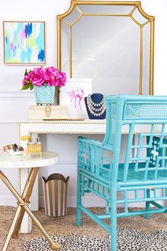 white + turquoise+ gold, faux bamboo, abstract, styling