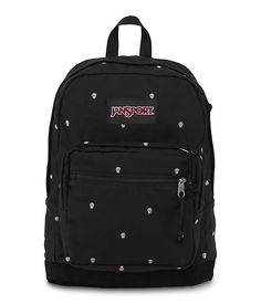 JanSport Right Pack Expressions Backpack - Black Spotted… Cute Backpacks For School, Stylish Backpacks, Cool Backpacks, Leather Backpacks, North Face Backpack, Black Backpack, Mochila Jansport, Jansport Right Pack, Viajes