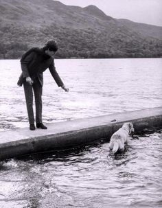 Paul McCartney and his dog, Martha