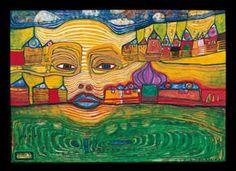 Hundertwasser. One of my fav. artists.