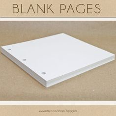 Blank Scrapbook Pages  Include in your Two Giggles by 2giggles