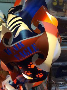 Auburn War Eagle Football Shaped  Puzzle Lamp by GetLightMe