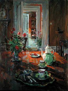 Susan Ryder.  Green Jug (oil on canvas)