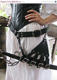 Black Leather Rapier / Sword by Dredmorsplunder