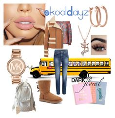 """""""SkoolDayz"""" by mzjerseygurl ❤ liked on Polyvore featuring Michael Kors, Pori, UGG, Carven, Marc by Marc Jacobs and Vera Bradley"""