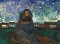 """"""" Sous les étoiles """", 1900-1905 Huile/toile de Edvard Munch"""