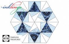 Inklingo Pieced Hexagons with Diamonds