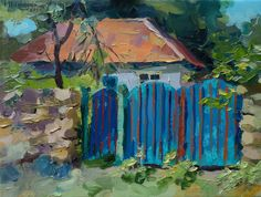 Original Oil Painting of home.