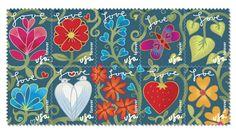 USPS Flower Postage Forever Stamps