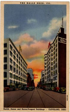 A postcard of Halle Brothers' Company, Cleveland